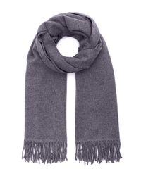 Acne Studios Purple Canada Fringed Wool Scarf