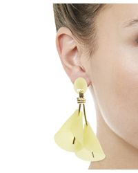 Lele Sadoughi - Yellow Calla Lily Clip-on Earrings - Lyst