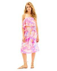 Lilly Pulitzer Pink Berk Crop Top & Midi Skirt Set