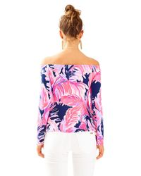 Lilly Pulitzer - Pink Audelia Off The Shoulder Top - Lyst
