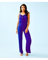 2c2b06beb55a Lyst - Lilly Pulitzer Tinley Jumpsuit in Purple