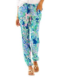 Lilly Pulitzer | Blue Piper Pull-on Ankle Pant | Lyst