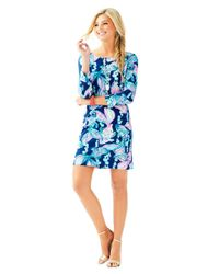 Lilly Pulitzer Blue Marlowe Boatneck T-shirt Dress