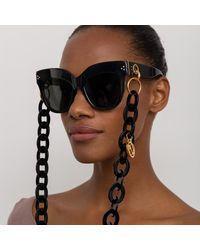 Linda Farrow Multicolor Dunaway Oversized Sunglasses
