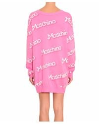 Moschino - Pink Cotton Mini Dress - Lyst