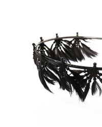 Valentino - Metallic Feather Crown - Lyst