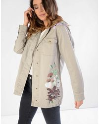 Glamorous | Green Floral Painted Light Jacket | Lyst