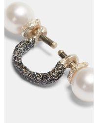 Pearls Before Swine - Multicolor Floating Painted Pearl Earring In Black - Lyst