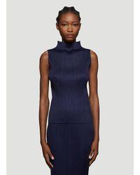 Pleats Please Issey Miyake Female Blue 100% Polyester. Machine Wash.
