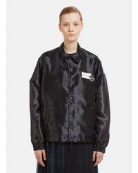 Facetasm Semi-sheer Northern Soul Work Jacket In Black