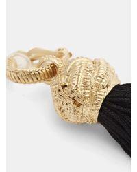Saint Laurent - Metallic Tassel Earrings In Gold - Lyst