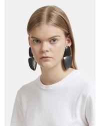 Monies - 24919 Ebony And Oxidised Copper Clip-on Drop Earrings In Black - Lyst