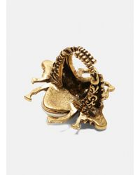 Gucci - Metallic Bee Ring In Gold - Lyst