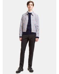 Thom Browne Blue Men's Gingham Checked Jacket In Navy And Red for men