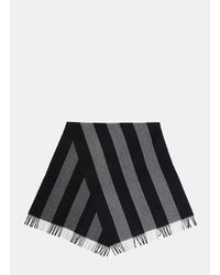 Acne - Gray Unisex Canada Bengal Stripe Wool Scarf In Grey for Men - Lyst