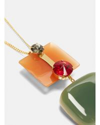 Marni - Metallic Resin Necklace In Gold - Lyst