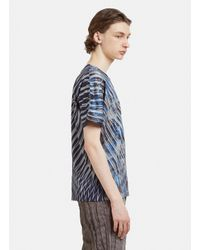 Issey Miyake Wrinkle T-shirt In Blue for men