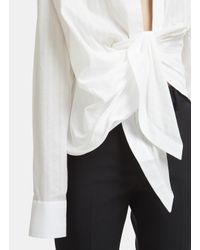 Jacquemus Ruched Bahia Shirt In White