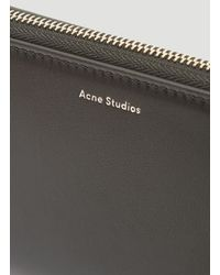 Acne Black Flourite S Continental Wallet