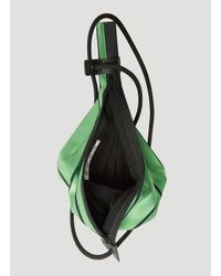 Pleats Please Issey Miyake Neon Pleats Shoulder Bag In Green