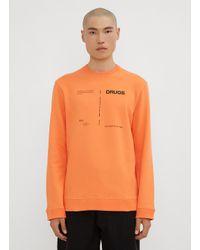 Raf Simons Drugs Crew Neck Sweatshirt In Orange for men