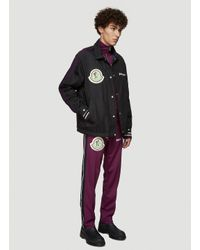 8 MONCLER PALM ANGELS Jersey Track Pants In Purple for men