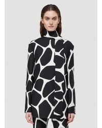 Valentino Black Giraffe Print Crepe Top