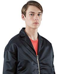 Acne Studios Men's Mennedy Satin Zipped Jacket In Black for men