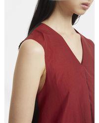 Yang Li Sleeveless Contrast Raw Edge Dress In Black