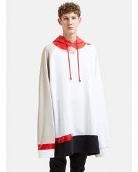 Raf Simons Oversized Hooded Tape Sweater In Red for men
