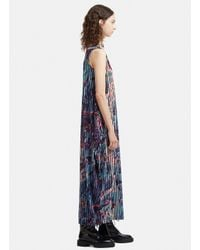 Issey Miyake - Double Stream Patterned Jersey Dress In Blue - Lyst