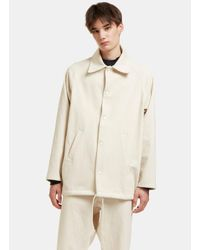 Camiel Fortgens Men's Oversized Baseball Jacket In Off-white for men