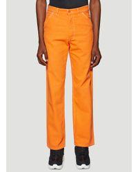 Heron Preston Orange Uniform Canvas Pants for men