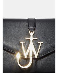 J.W. Anderson Black Monogram Leather Shoulder Bag