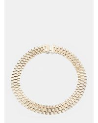 Lanvin | Metallic Women's Link Chain Choker In Gold | Lyst