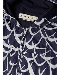 Marni - Blue Men's Flutter Oversized Hooded Jacket In Navy And White for Men - Lyst