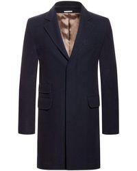 Brunello Cucinelli Wollmantel in Blue für Herren