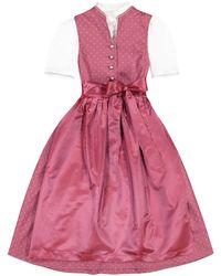 Lodenfrey Pink Mädchen-Dirndl mit Bluse und Seidenschürze
