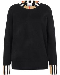 Burberry Black Eyre Cashmere-Pullover