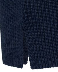 Lodenfrey Blue Cashmere-Rollkragen-Pullover