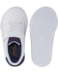 Polo Ralph Lauren White Theron Baby-Sneaker