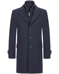 Eleventy Cashmere-Mantel in Blue für Herren