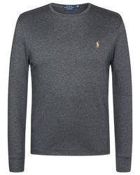 Polo Ralph Lauren Longsleeve Custom Slim Fit in Gray für Herren