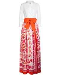 Sara Roka Orange Jinny long Kleid