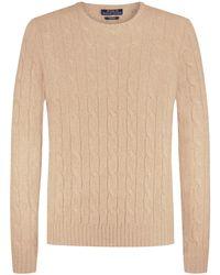 Polo Ralph Lauren Cashmere-Pullover in Natural für Herren