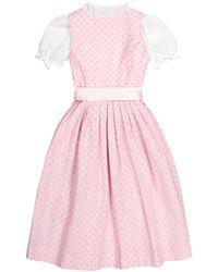 LODENFREY München 1842 Pink Mädchen-Dirndl mit Bluse und Seidenschürze