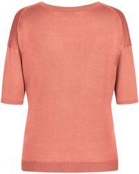 Lodenfrey Orange Seiden-Strickshirt