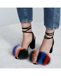 Loeffler Randall Blue Nicolette High Heel Sandal
