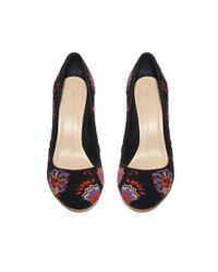 Loeffler Randall - Black Sydnee Embroidered Block Heel Pumps - Lyst