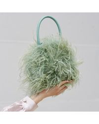 Loeffler Randall - Green Zadie Feather Circle Tote - Lyst